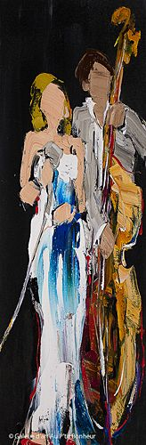 Kimberly Kiel, 'In the Spotlight', 12'' x 36'' | Galerie d'art - Au P'tit Bonheur - Art Gallery