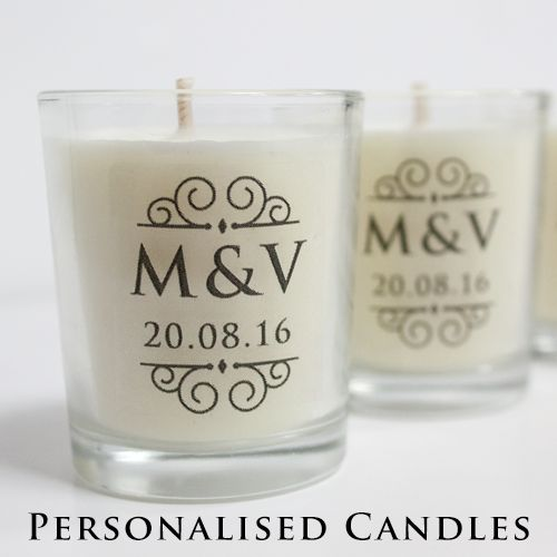 Wedding Favours : Personalised Candles