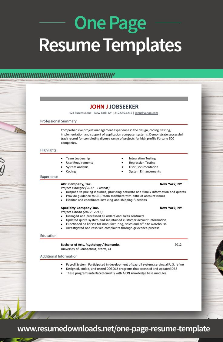 15 creative one page resume templates that will make you