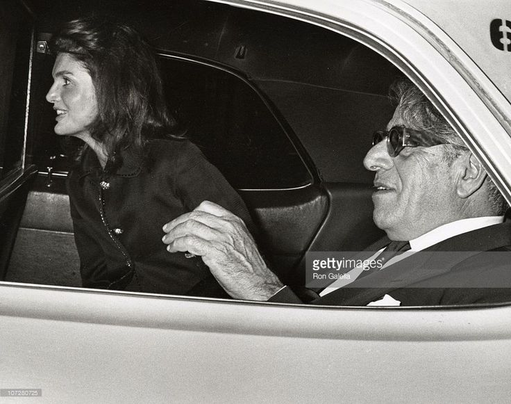 Jackie Kennedy Onassis and Aristotle Onassis during Jackie Kennedy Onassis escorting Aristiotle Onassis to JFK International Airport at JFK International Airport in New York City, New York, United States.