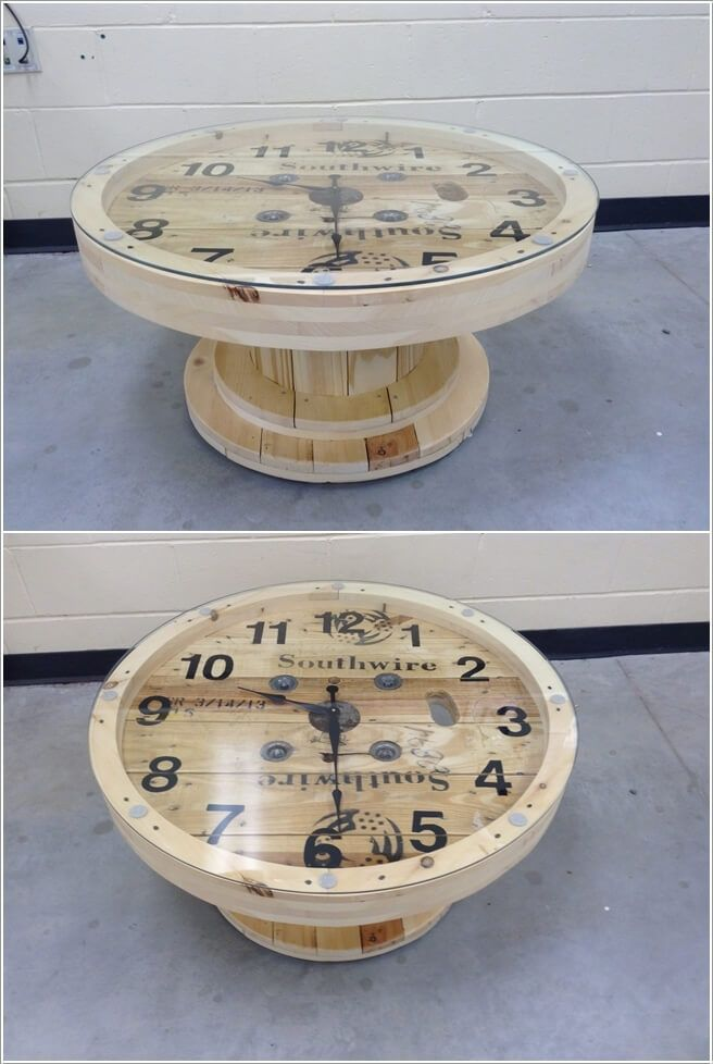 If any space in your home is in need of any kind of table either big or small then how about doing some recycling?A cable spool can be transformed into a