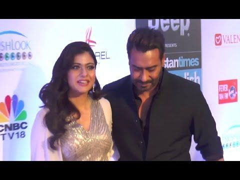Ajay Devgan with wife Kajol at HT Most Stylish Awards 2017.