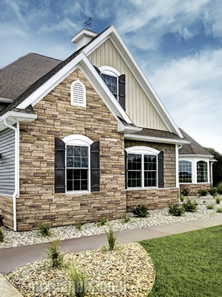 Ledgestone plum creek versette home design pictures for Stone facade siding