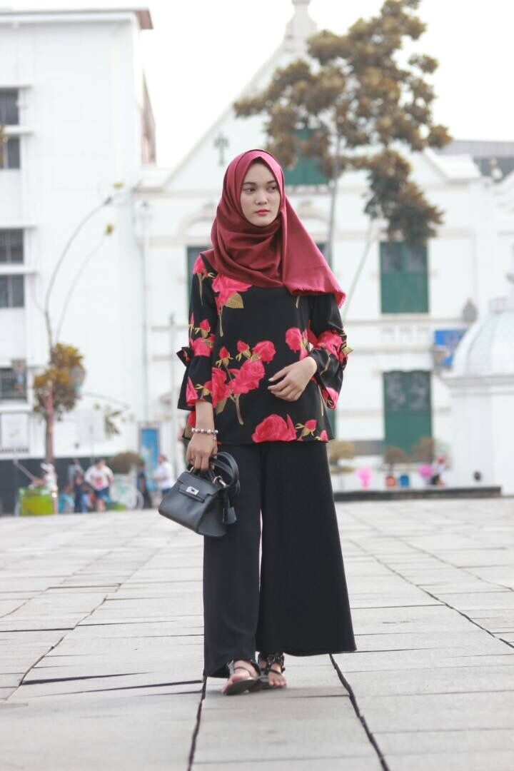 outfit hijab casual