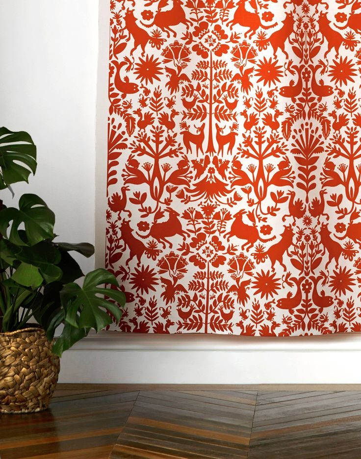 Our designer fabrics are screen printed by hand. Details - Per yard: 58 in x 3 ft - Sample: 6 in x 6 in - Vertical Repeat: 27 in - Horizontal Repeat: 29 in - Material: 55% Belgian linen | 45% cotton -