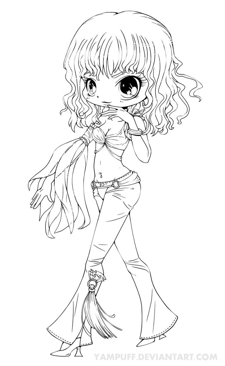 Britney Spears Chibi Lineart