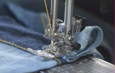 Having trouble sewing thick fabrics? Here's a short tutorial that can help by Pattern Emporium.