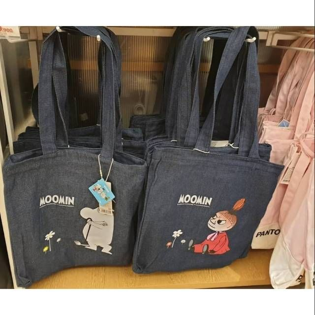 Moomin Canvas Moomin House Tote Bag Shopper Bag Shoulder Bag Japan