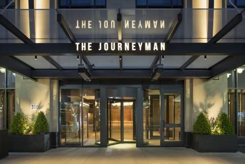 Kimpton Journeyman Hotel (310 E Chicago Street) Featuring a rooftop bar with a lounge area, The Kimpton Journeyman Hotel also offers an on-site restaurant and fitness centre.  Every room at this hotel is air conditioned and has a flat-screen TV. #bestworldhotels #travel #us #milwaukee