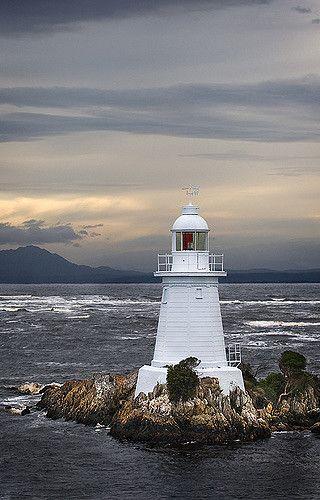 Macquarie Harbour Lighthouse - Tasmania, Australia (Known as Hells Gates)