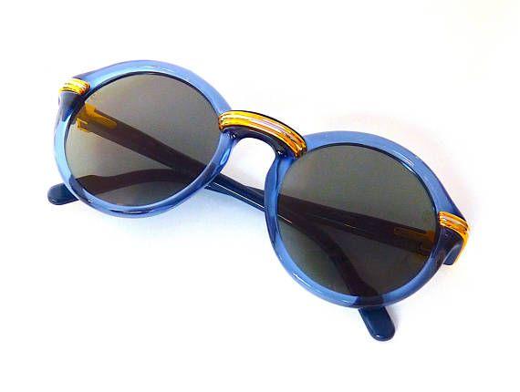 CARTIER Cabriolet Sunglasses NOS Blue Ultra Rare Color