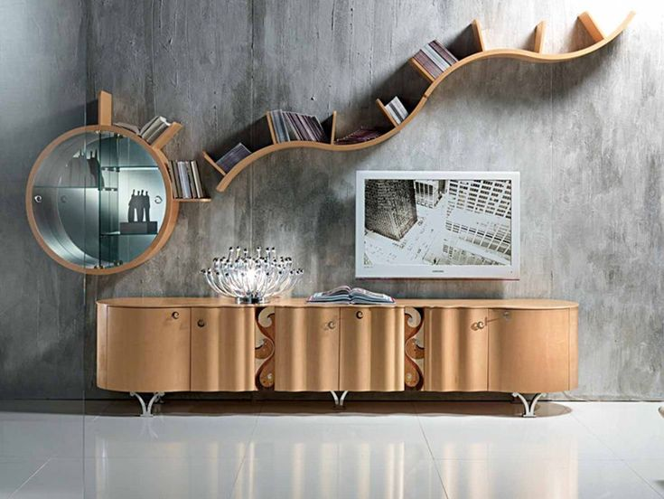 Wooden sideboard with doors with drawers Mistral Collection by Carpanelli