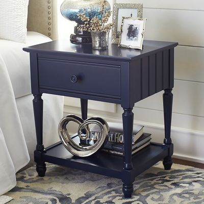 Superior Cottage Rubbed Black Nightstand