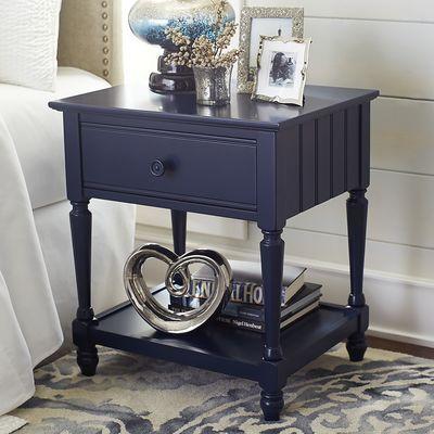 Cottage Navy Blue Nightstand