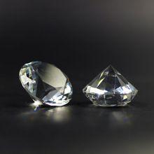 Горячие Продажи 30 мм камень ясный цвет стекла алмаз Кристалл Алмаза Форма Свадебный Стол Декор 1 ШТ.(China (Mainland))