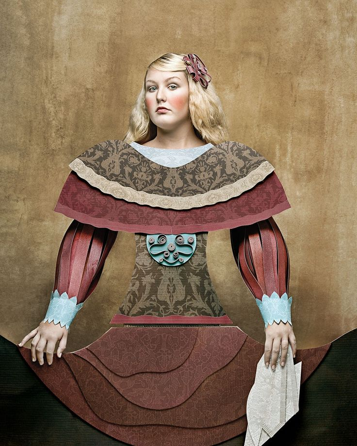 Dame di Cartone ('Cardboard Ladies'), 19th Century III by Christian Tagliavini. A collection by the Swiss-Italian photographer which mimics the look of historical paintings by imitating how people dressed at the time - in clothing created by cardboard.