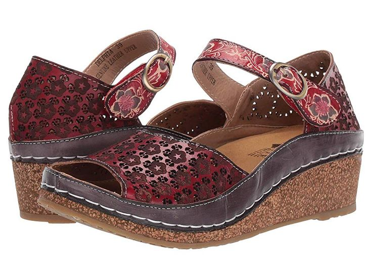 Lartiste by spring step delphia womens shoes red