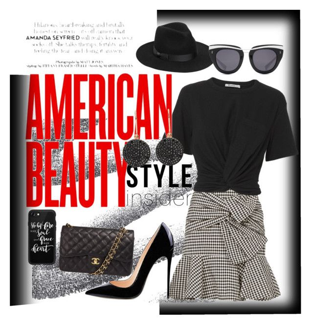 """""""Black and white Fun 👗👠"""" by aasisterstouch on Polyvore featuring Veronica Beard, T By Alexander Wang, Chanel, Astley Clarke, Lack of Color, Casetify and HOOK LDN"""