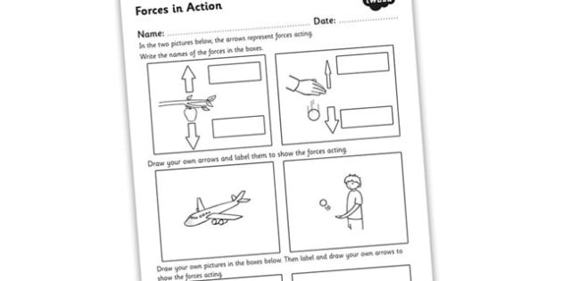 Forces In Action Worksheet Force And Motion Text Structure Worksheets Force Friction and gravity worksheet