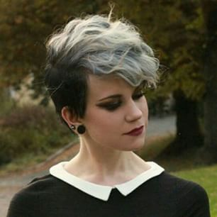 And this glam gray-haired stunner. | 21 Women Who Are Really Pulling Off This Pixie Haircut Thing