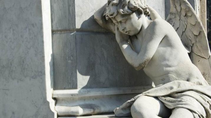 Statue på Recoleta kirkegården i den argentinske hovedstad Buenos Aires
