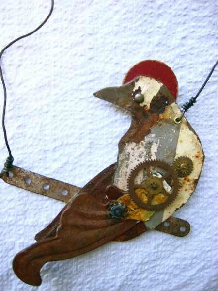 Leighanna Light: Assemblage Art, Bird Leighanna Light, Jewelry Inspiration, Birds Nests Cages, Metal Bird Leighanna, Bird Art, Funkadelic Cool Jewelry, Birdy Delights, Assemblage Art