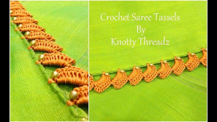 Crochet Saree Tassels Tutorial | New Design | Easy Single Step Latest De...