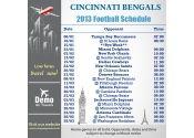 5x5 in One Team Cincinnati Bengals Football Schedule