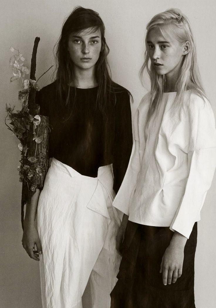 julia bergshoeff eva berzina UK Vogue February 2013 ph. josh olins [ Lucid. Minimal Style. The CV ]