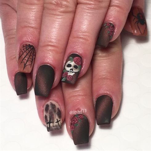 732 best halloween nail art images on pinterest halloween manicure by jgchef13 from nail art gallery prinsesfo Images