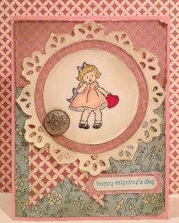 Valentine's Day Card using SU's Greeting Card Kids stamp set