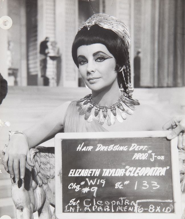 Elizabeth Taylor on the set of Cleopatra