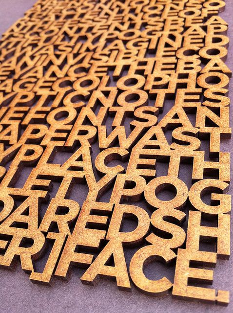 Laser cut typographic quote | Flickr - Photo Sharing!