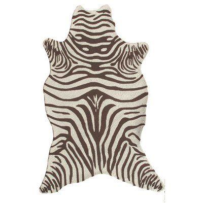 The Rug Market Resort Brown Zebra Shaped Rug 5u0027 X 8u0027 The Rug Market