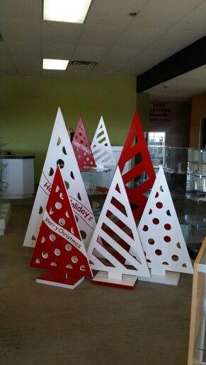 MDF christmas tree display