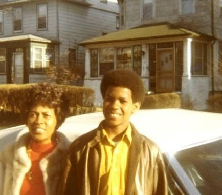 A young Denzel Washington and his mom
