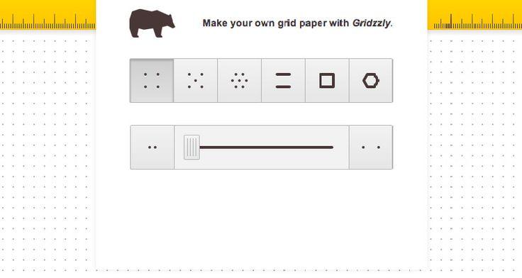 Auf Gridzzly.com kann man kostenlos Papier mit einem Punktraster, oder auch kariertes und liniertes Papier kostenlos erstellen und ausdrucken.