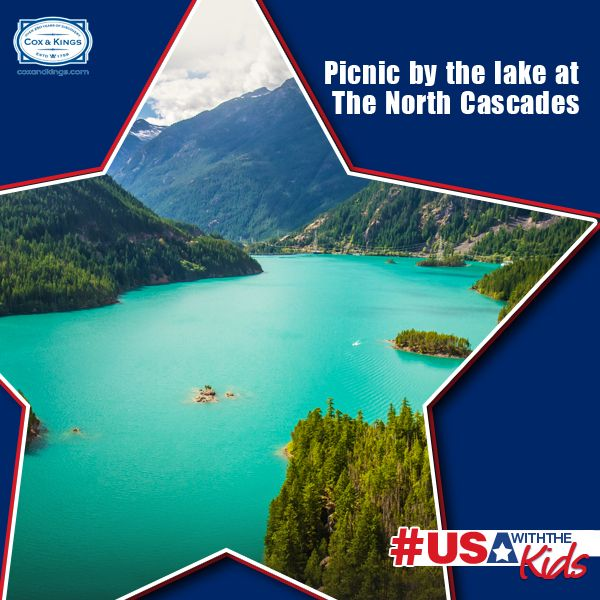 If you love water, you're going to love a family vacation in Washington. Head to The North Cascades, a national park in Washington DC, and discover over 300 glacial peaks, lush forests and serene lakes. #USA #SummerVacation #FamilyTrip