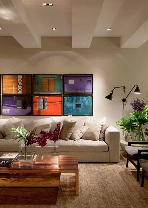 Sala Clean E Colorida. Ceiling DetailModern Framed ArtDecorating IdeasInterior  DecoratingLiving RoomsLiving Room FurnitureColorful ... Part 85