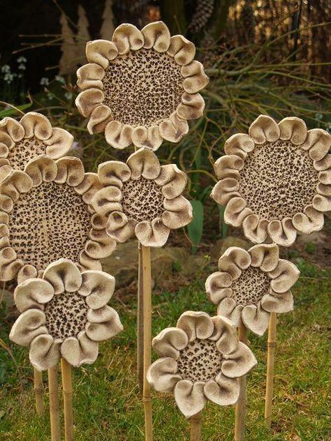 ceramic garden sculptures!