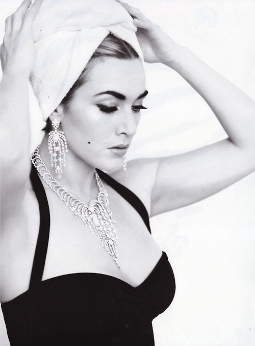Kate Winslet wearing the classic Bill swimsuit by Norma Kamali in V Magazine!