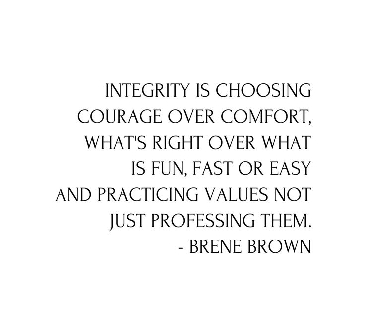 Integrity not only relates to how you stand for what you believe in, but also brands and how transparent they are with what ingredients they use in their products, how the people making there clothing or products are treated and how they define 'fair'. A great message said by Brene Brown for you to think about. ✨ What is a value that you want to practice rather than profess?