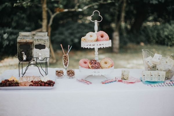 Magical Woodland Wedding Desserts | Rivkah Photography on @savvybride via @aislesociety