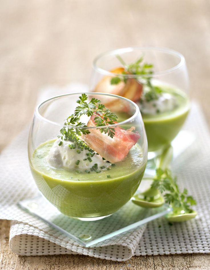 Soupe verte froide