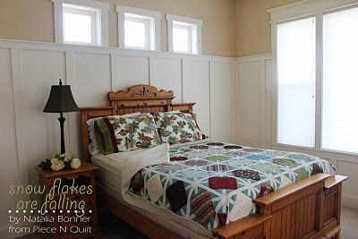 Snowflakes Are Falling - Guest Room Christmas Quilt: Layered Cakes, Modabakeshop Modafabr, Moda Baking, Christmas Quilts, Baking Shops, Fall Quilts, Http Www Modabakeshop With, Snowflakes Quilts, Moda Bakeshop