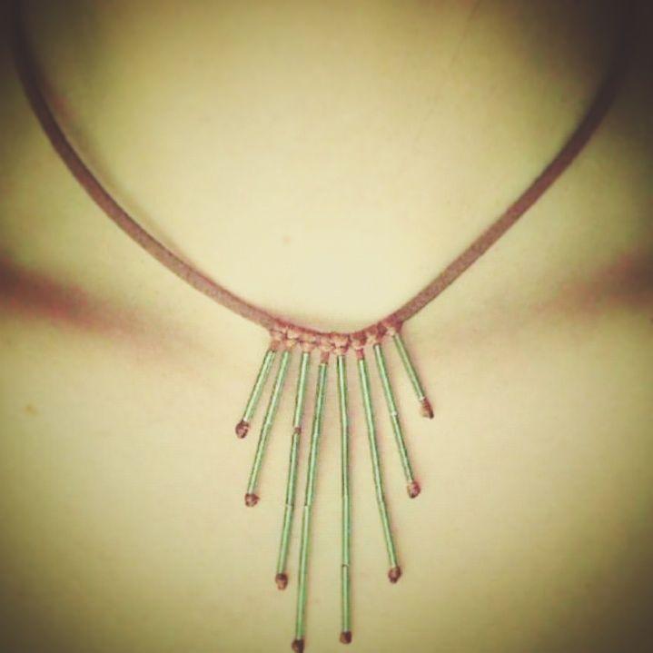 #handmade #necklace #flyingcoalacrafts #flyingcoalahandmade #heatwave #summer #atlast 😇😇😇