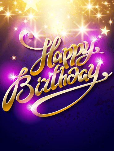 Shimmering Star Happy Birthday Card