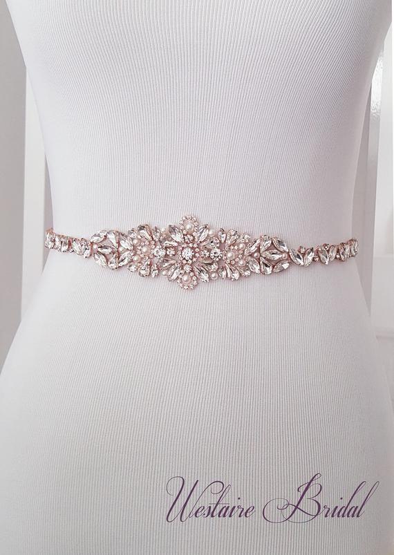 Wedding Crystal Sash Bridesmaids Sash Bridal Crystal Sash