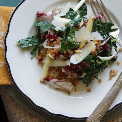 radicchio amp wheat berry salad with parmesan apples amp walnuts or ...