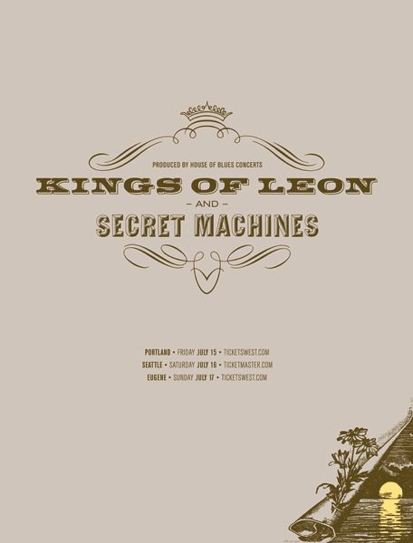 Kings Of Leon & Secret Machine by Jason Munn | The Small Stakes